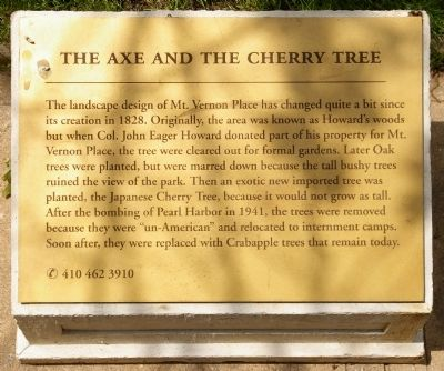 The Axe and the Cherry Tree Marker image. Click for full size.