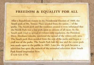 Freedom & Equality for All Marker image. Click for full size.