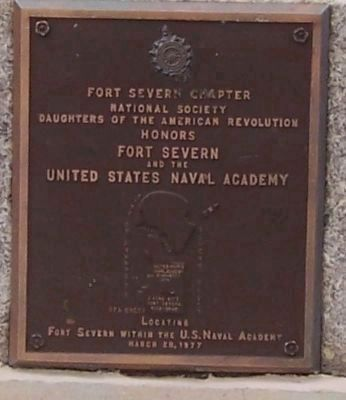 Fort Severn and the United States Naval Academy Marker. image. Click for full size.