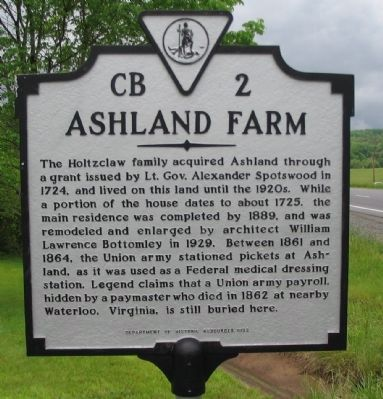 Ashland Farm Marker Photo, Click for full size