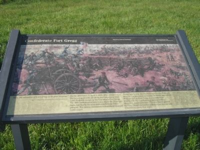 Confederate Fort Gregg Marker Photo, Click for full size