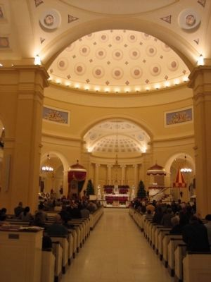 The interior of the Basilica following its redecoration in 2006. image. Click for full size.