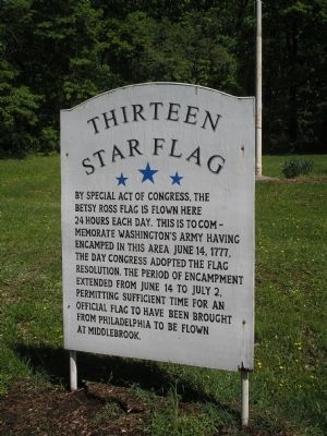 Thirteen Star Flag Marker Photo, Click for full size