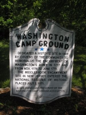 Washington Camp Ground Marker Photo, Click for full size