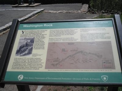 Washington Rock Marker Photo, Click for full size
