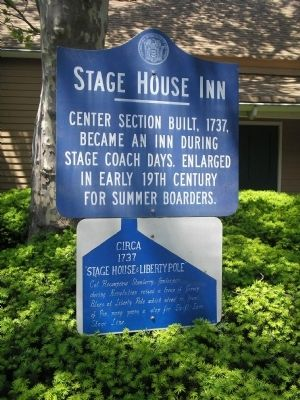 Stage House Inn and Stage House & Liberty Pole Markers image. Click for full size.