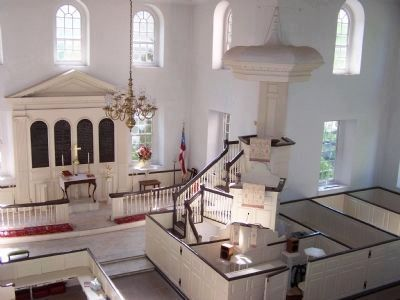 The celebrated three-tier pulpit of Aquia Episcopal Church. Photo, Click for full size