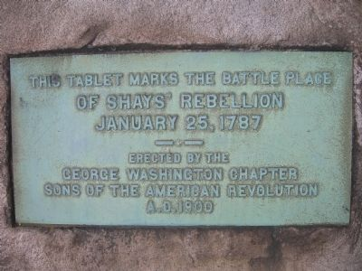 Shays' Rebellion - Springfield, Mass. image. Click for full size.