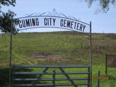 Cuming City Cemetery Gate image. Click for full size.