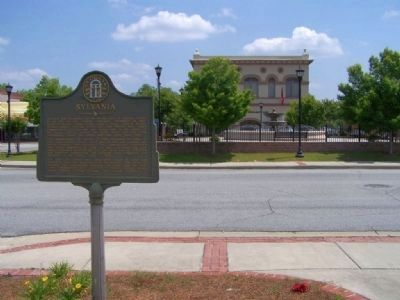Sylvania Marker, backround includes the town square image. Click for full size.