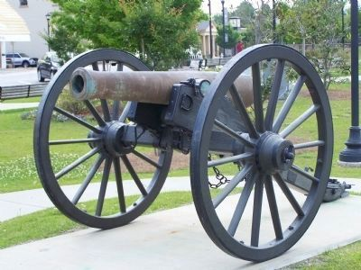 12-pdr Model 1857 Field Gun in Town Square image. Click for full size.