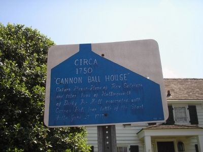 Cannon Ball House Marker image. Click for full size.