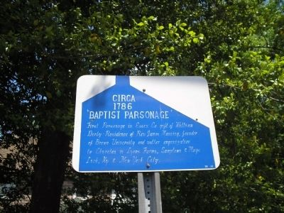 Baptist Parsonage image. Click for full size.