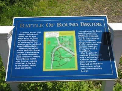 Battle of Bound Brook Marker Photo, Click for full size