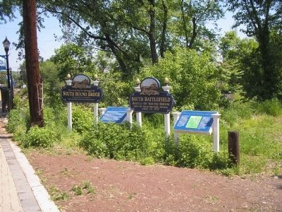 Markers at Millstone River Photo, Click for full size