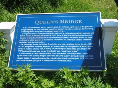 Queen's Bridge Marker image. Click for full size.