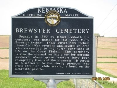 Brewster Cemetery Marker image. Click for full size.