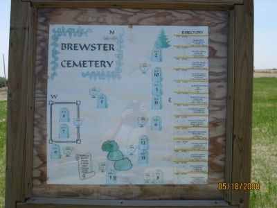 Hand-drawn map of the burial sites. image. Click for full size.