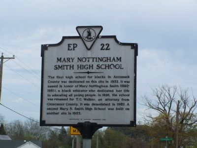 Mary Nottingham Smith High School Marker image. Click for full size.