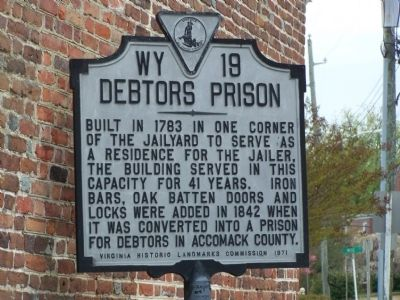 Debtors Prison Marker Photo, Click for full size