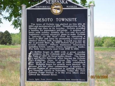 DeSoto Townsite Marker image. Click for full size.