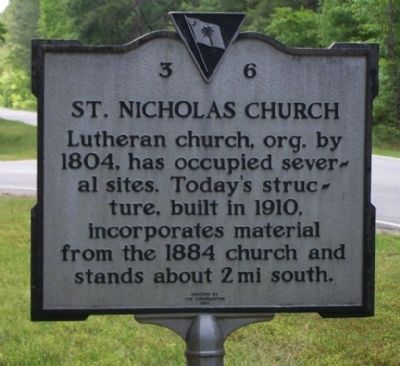 St. Nicholas Church Marker image. Click for full size.