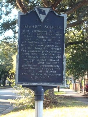 Howard School Marker image. Click for full size.