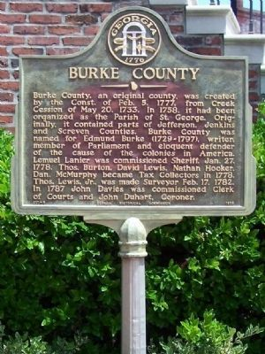 Burke County Marker image. Click for full size.