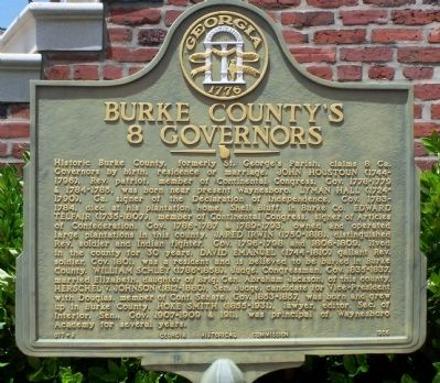 Burke County's 8 Governors Marker image. Click for full size.