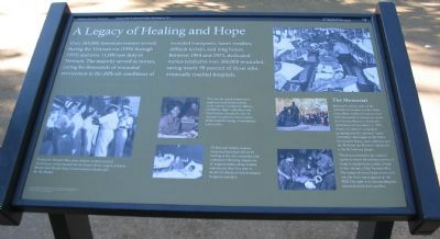 A Legacy of Healing and Hope Marker image. Click for full size.