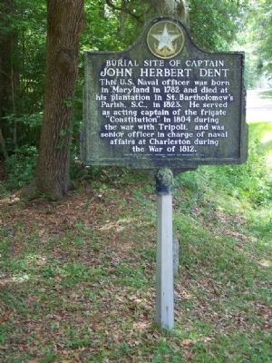 The Burial Site of Captain John Herbert Dent Marker Photo, Click for full size