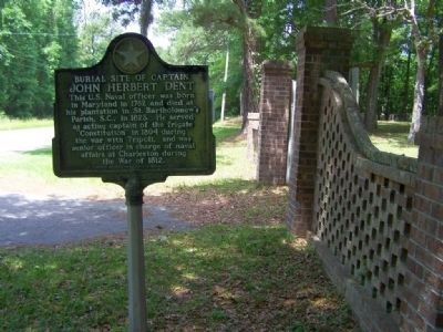 The Burial Site of Captain John Herbert Dent Marker at Bethel Church Cemetery Photo, Click for full size