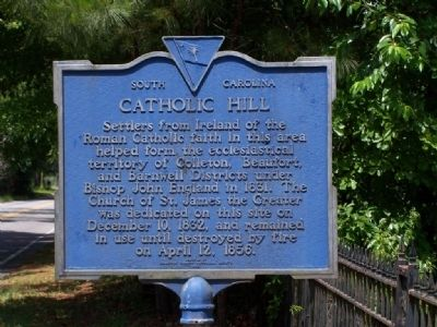 Catholic Hill Marker image. Click for full size.