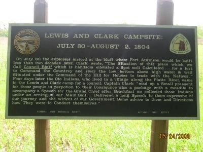 Lewis and Clark Campsite: Marker image. Click for full size.