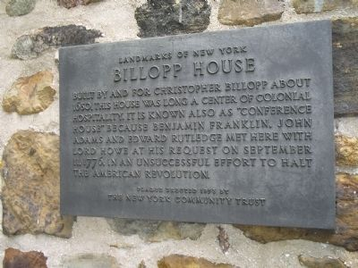 Billopp House Marker Photo, Click for full size