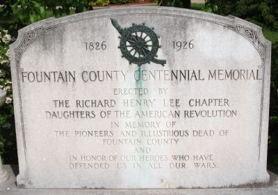 Fountain County Centennial Memorial Marker image. Click for full size.