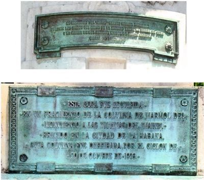 Cuban Friendship Urn Marker Plaques Photo, Click for full size