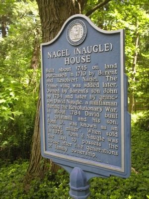 Nagel (Naugle) House Marker image. Click for full size.