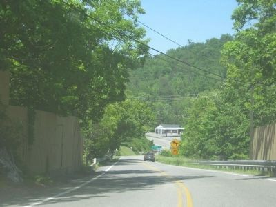 Photo of Route 11 as it goes over Natural Bridge. Photo, Click for full size
