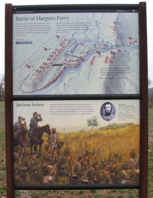 Battle of Harpers Ferry / Jackson Arrives Marker image. Click for full size.