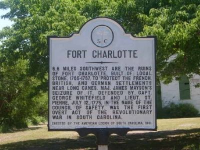 Fort Charlotte Marker Photo, Click for full size