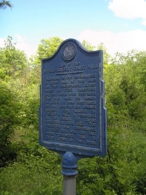 Site of the Myers-Bogert Grist Mill Marker image. Click for full size.
