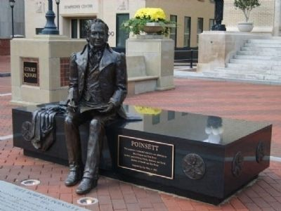 Joel Poinsett Statue -<br>Located In Front of the Old Courthouse Photo, Click for full size