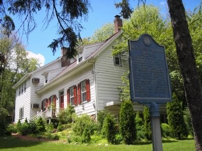 Marker at the Blauvelt-Seaman House image. Click for full size.