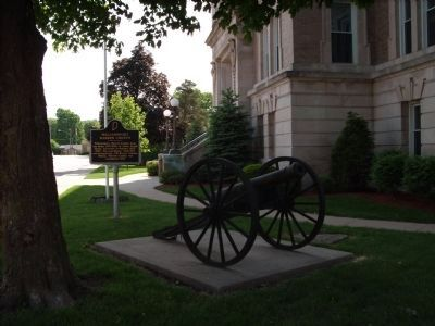 Cannon: on Corner of Second St and Monroe Street. image. Click for full size.
