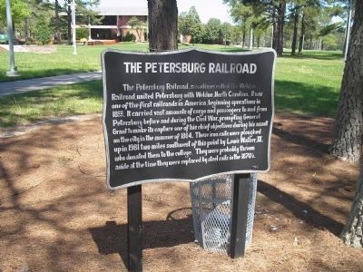 The Petersburg Railroad Marker image. Click for full size.