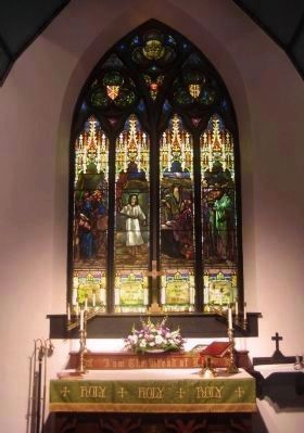 Large window above altar. image. Click for full size.