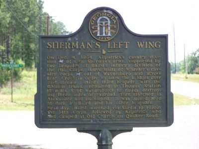 Sherman's Left Wing Marker image. Click for full size.
