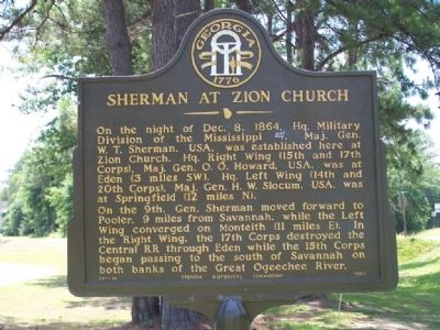 Sherman at Zion Church Marker image. Click for full size.