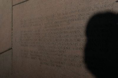 Boy Scout Memorial Marker Photo, Click for full size